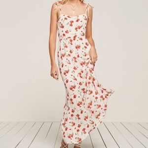 Reformation floral maxi pull on dress